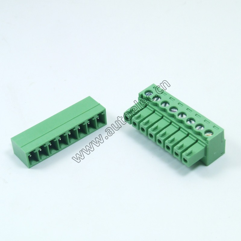 10Sets male and female 3.81MM Pitch PCB Pluggable Terminal Blocks plug and socket Connector 2/3/4/5/6/7/8/9/10 Straight Pin
