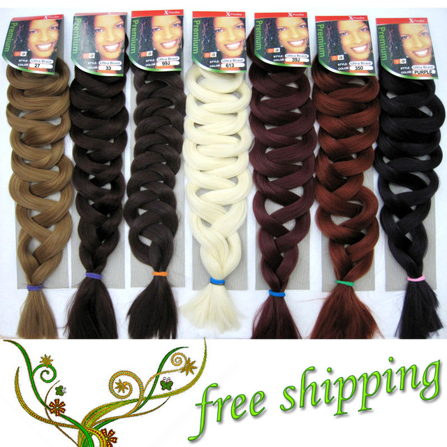 1pc Xpression Braiding Hair Premium Ultra Braid 82inch 165g 15colors Synthetic Extension Jumbo