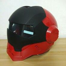 2016 Masei Ярко-Красный Черный женщин Людей IRONMAN Железный Человек шлем мотоцикла половина шлем открытый шлем ABS шлем мотокросс