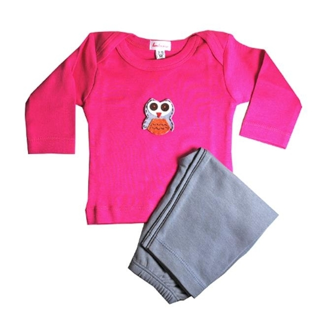 Loralin Design GFO12 Owl Outfit – Fuchsia 12-18 Months