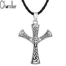 Chandler Retro Algiz Rune Pendant Necklaces Elhaz Nordic Amulet Viking Jewelry Scandinavia Norse Pagan Classic Spiritual Collier