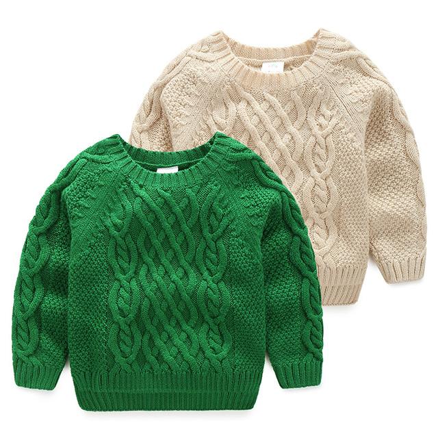 Ropa para niños niños Sweaters giro Bebé suéter 2016 otoño y el invierno niño de punto superior