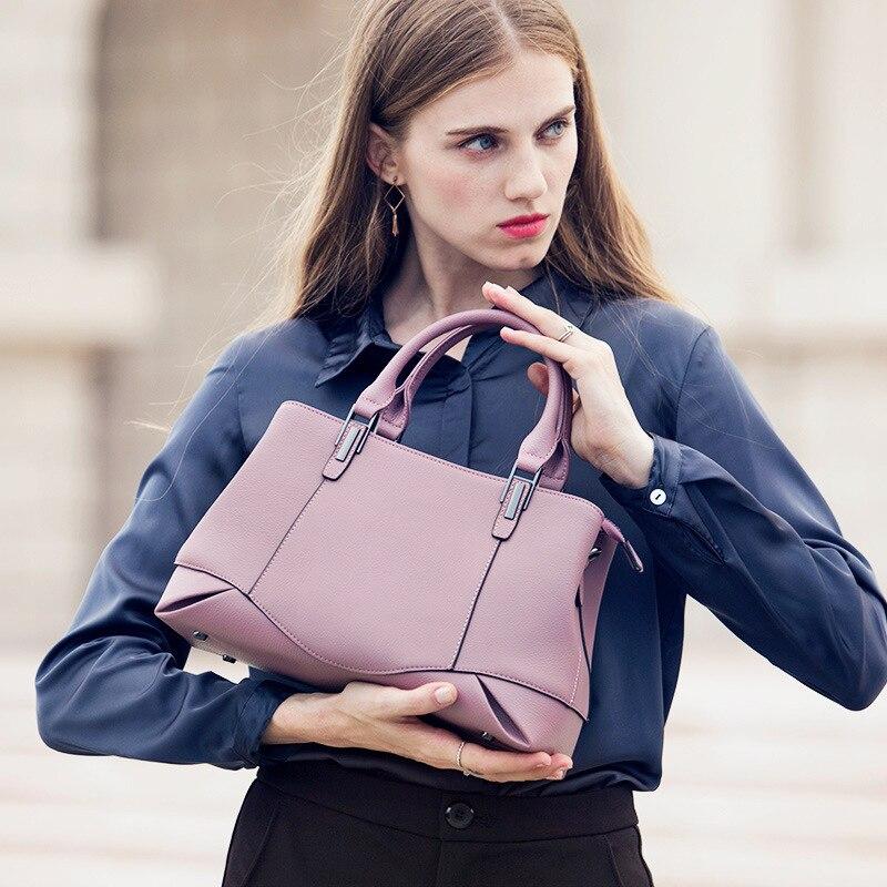 Casual Genuine Leather Handbags Designer Female Cow Leather Tote Bag