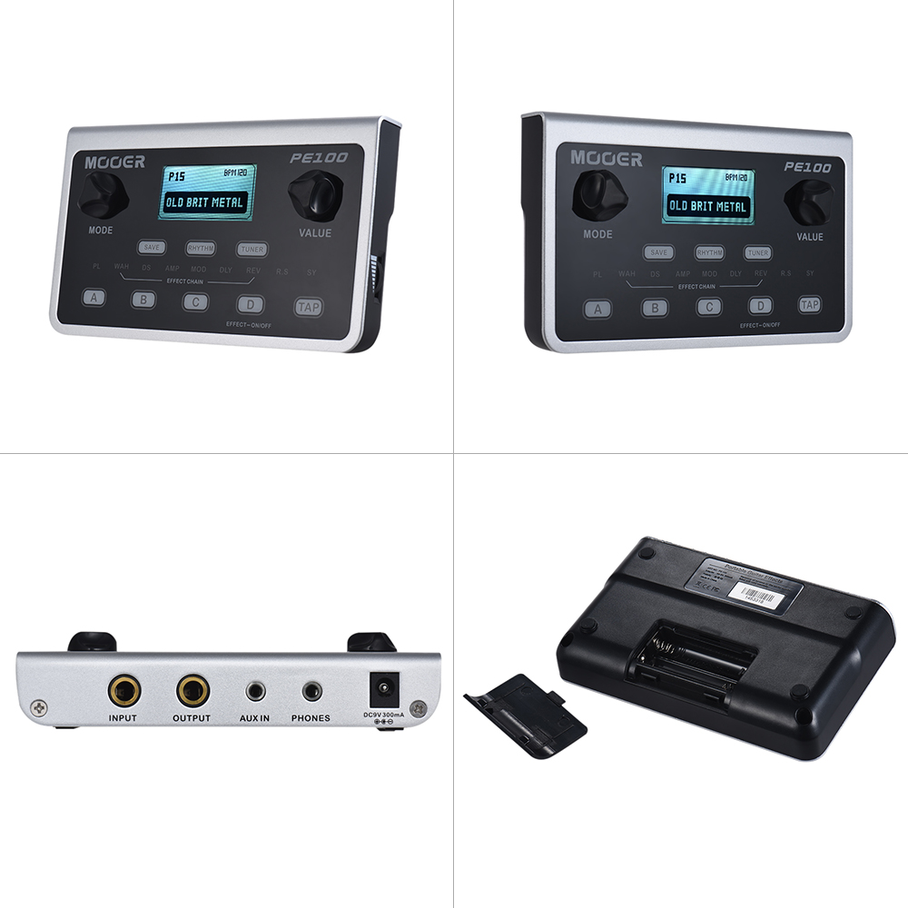 MOOER PE100 Portable Multi effects Processor Guitar Effect Pedal 39 Effects 40 Drum Patterns 10 Metronomes Tap Tempo-in Guitar Parts & Accessories from Sports & Entertainment    3