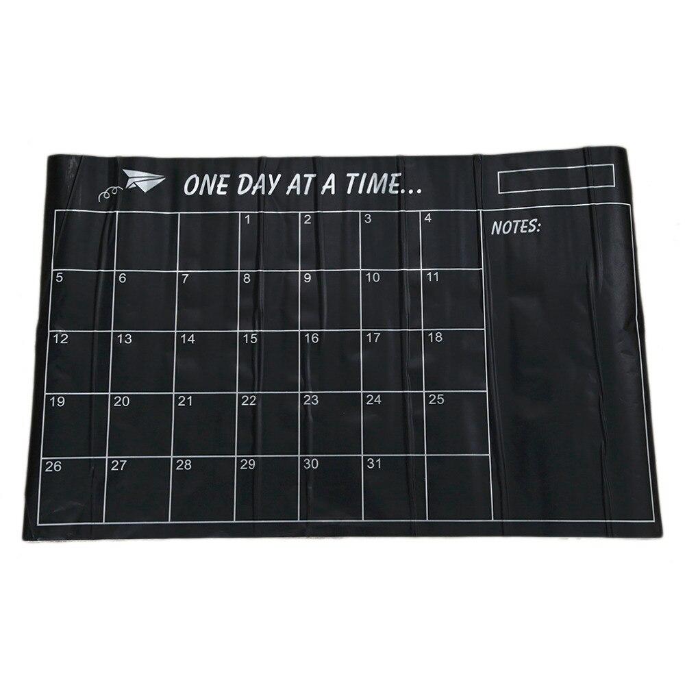2017 New Arrival Vinyl DIY Weekly Chalkboard Calendar Blackboard Wall Decal Sticker Planner Wallpaper  Decal Stickers 95cm*60cm 83 9 66cm weekly planner office chalkboard blackboard black chalk board sticker