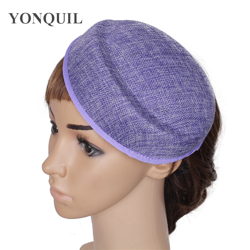 Charming Imitation sinamay PURPLE Fascinator Base 18CM pillbox hat New  hairwear material Women Party show DIY hair headpiece e8a566f0d74
