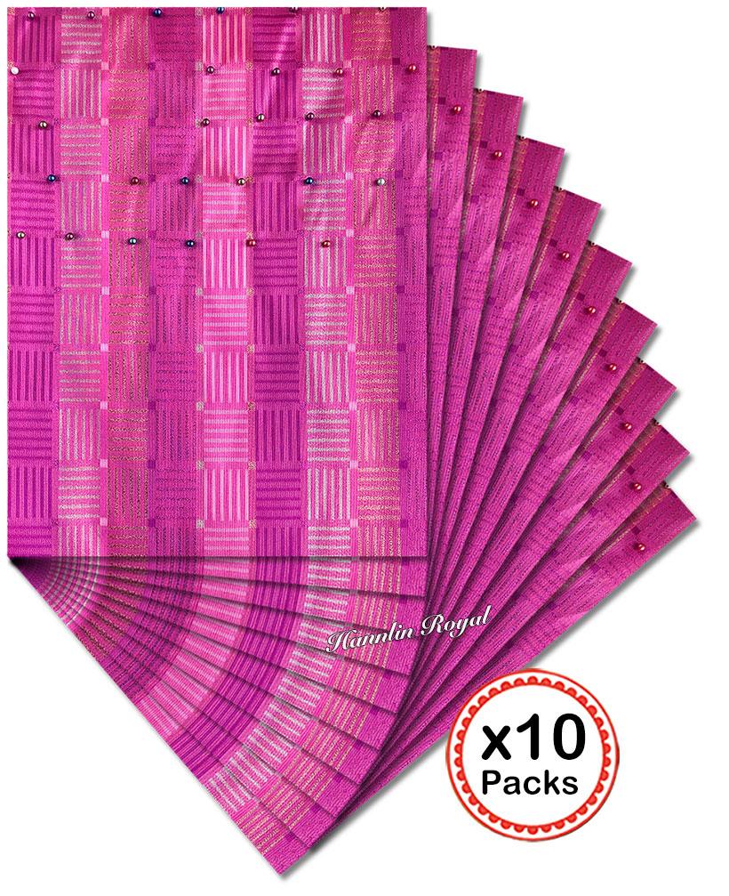 10 packs 20 pieces Multicolors Beaded African SEGO Headtie Gele Ipele together African Head gear Wrapper