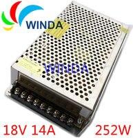 High Quality led power supply dc 18V 14A 250W transformer AC 110V 220V full range centralized power supply