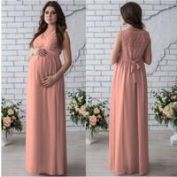 Pregnancy Dress Evening Wedding Maternity Clothes Photography Dress Stretchy Lace Elegant Pretty Vestido Pregnancy Gown Dress