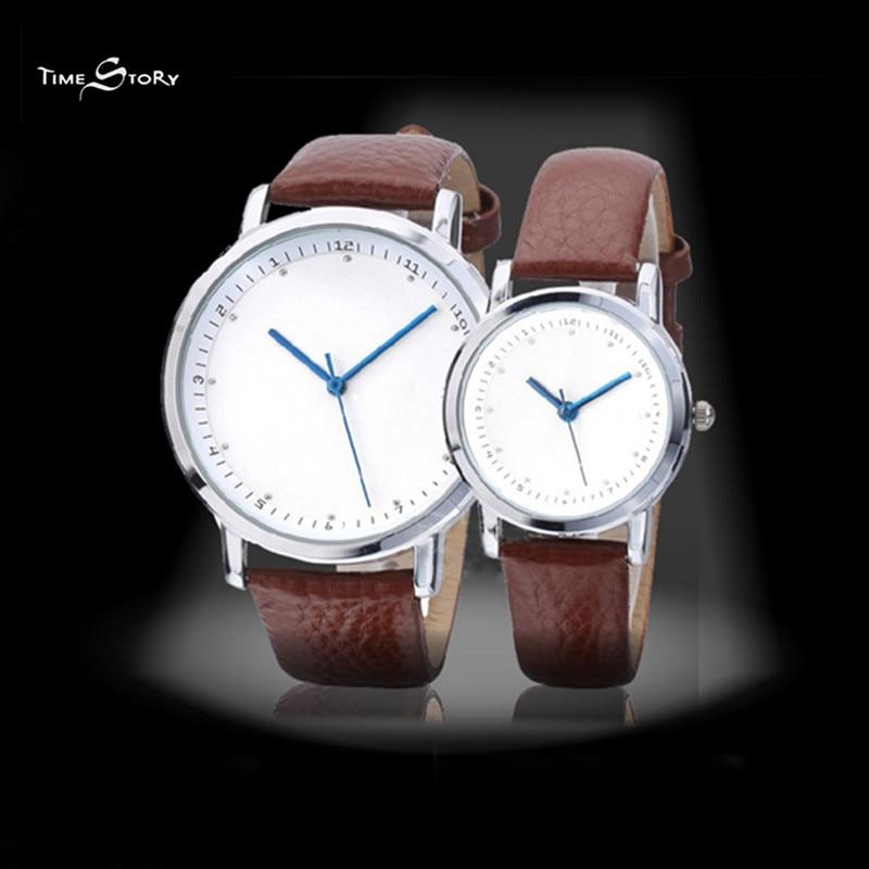2017 Brand Time Story Anticlockwise Casual men Watches Leather strap Waterproof Men Wrist Watches Men Quartz