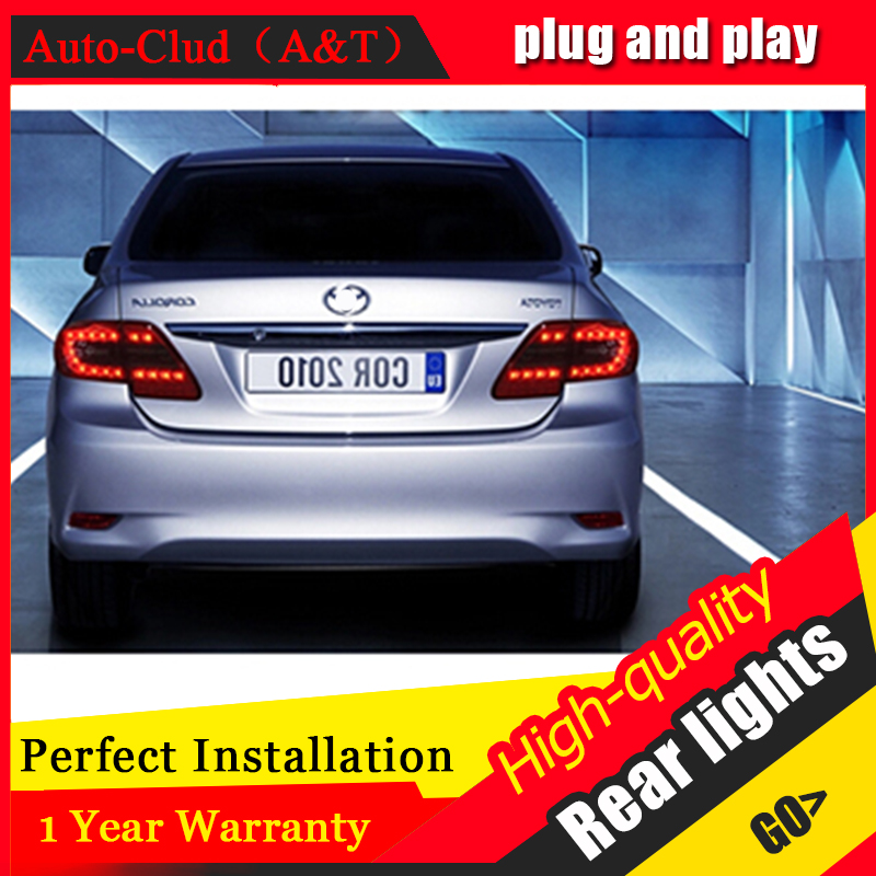AUTO.PRO 2010-2013 For toyota Corolla LED rear lights car styling For toyota Corolla LED taillights cover signal+brake+reverse air intake aluminium pipe kit for toyota corolla 1 6 1 8 2 0 rumion of rh drive noah pls contact for other car models