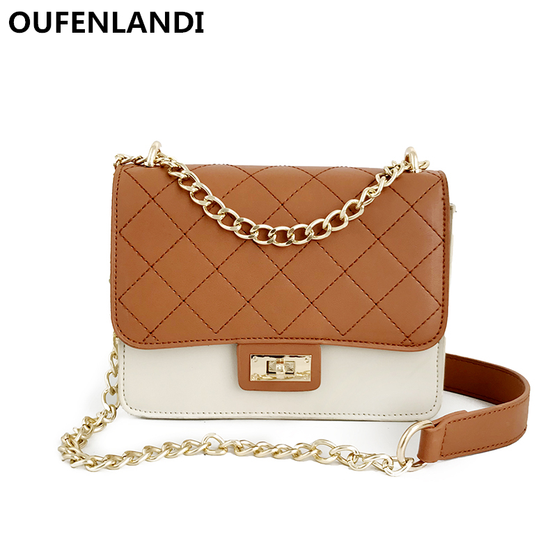 OUFENLANDI designer bags famous brand women bags 2018 High Quality simple stylish Shoulder bag women crossbody bag