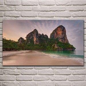 Mar de andaman tailândia seascape praia natureza paisagem vivendo decoração do quarto home da parede arte decoração em madeira moldura de cartaz tecido KH840