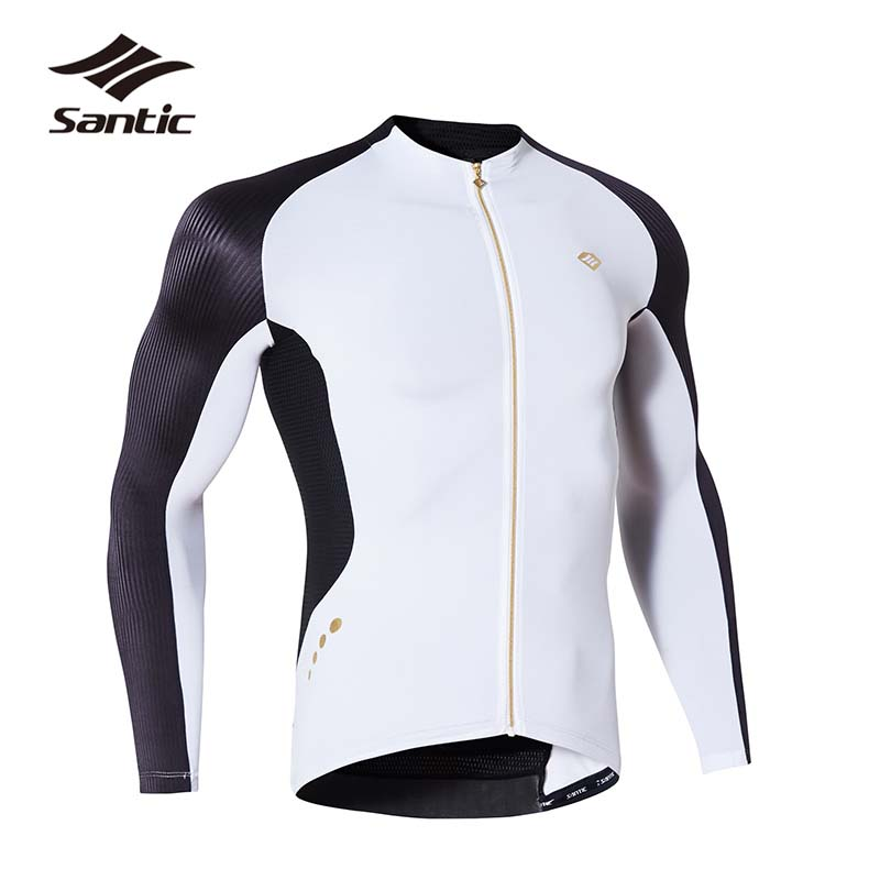 Santic Men Long Sleeve Cycling Jersey Breathable Quick Dry 2017 Pro Racing Bicycle Bike Jersey Ropa Ciclismo Downhill MTB Jersey santic women cycling jersey summer short sleeve mtb downhill jersey breathable mountain bike bicycle jersey ropa ciclismo