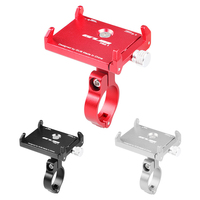 Tightly Grip Bike Phone Holder Alloy Mobile Phone Carrier for Bicycle Aluminum Cellphone Mount Motorcycle Mountain Bikes