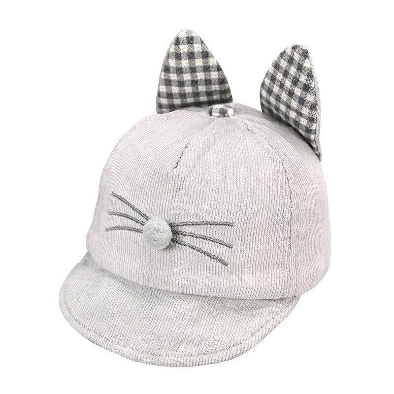 Grueso bebé Cap gato patrón otoño sombrero lindo sombrero de algodón ...