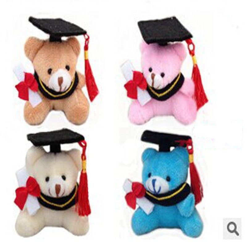 20pcs / lot безплатна доставка 7см плюшени завършване мечка ключодържател студентски фестивал подаръци страна подаръци на едро