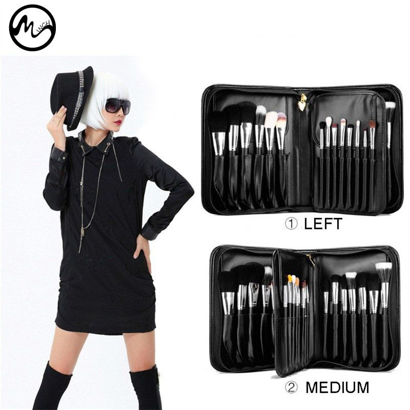 MINCH High Quality 29 Pcs Makeup Brushes Professional Face Lip Cosmetic Brush Set With Case Nature Bristle Make Up Brushes Kit altamont salman shirt jacket black