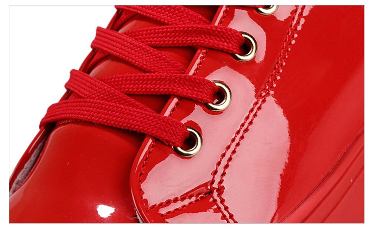 Fashion Leopard Sequined Skate Shoes For Men Ankle Boots 2015 New PU Patent Leather Shoe High Top Casual Flats Medusa Shoes F184 (6)