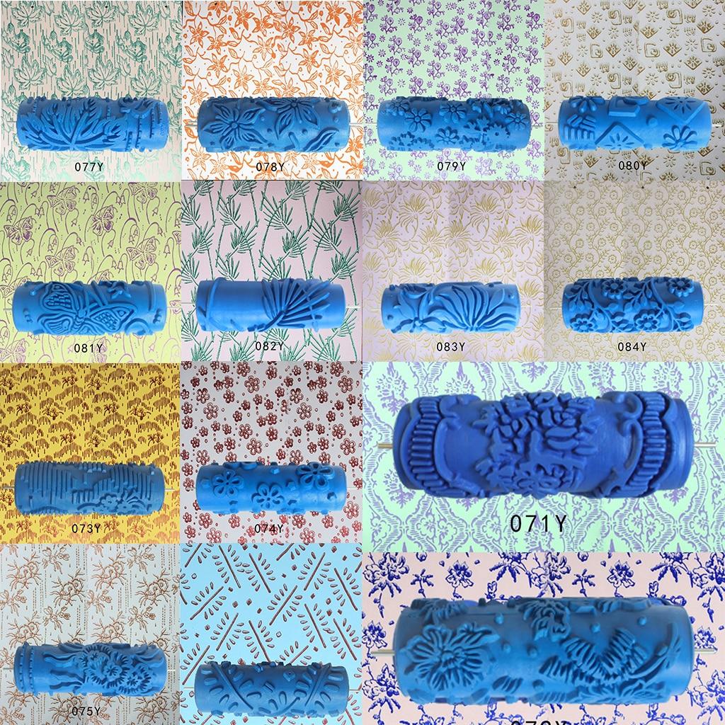 Us 977 22 Off5 Gumowe W Wytłaczane Kwiaty Wzór Farba Diy Z Wałkiem Z Filcu Dekoracyjne Tekstury Wałek Do Wall Maszyna Do Malowania W Wałki Do