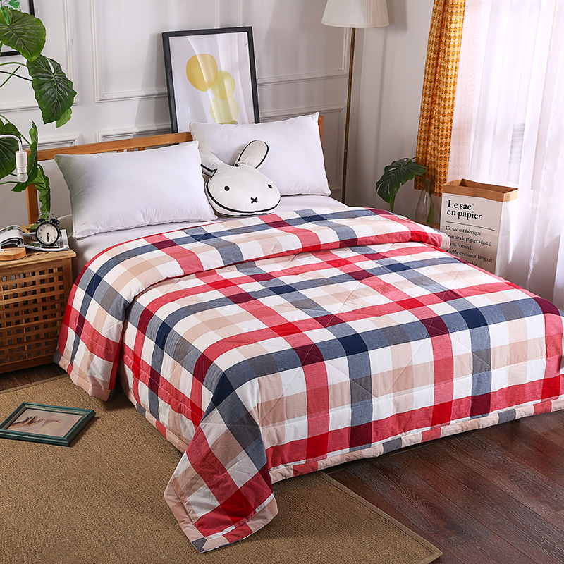 New Luxury 100% Washing cotton Summer Quilt twin single queen Blankets plaid Bed Cover Children Adults duvet red soft ComfortersNew Luxury 100% Washing cotton Summer Quilt twin single queen Blankets plaid Bed Cover Children Adults duvet red soft Comforters