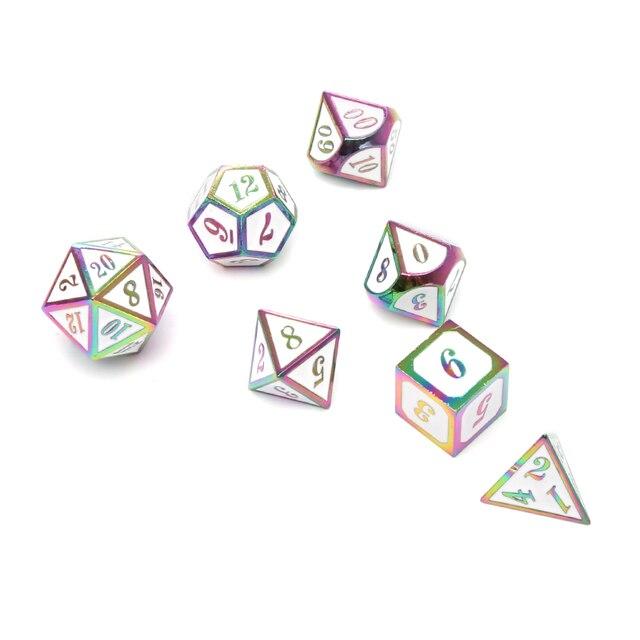 Chengshuo dados dnd rpg set poliédrico masmorras e jogos de mesa do dragão preto de metal liga de Zinco verde digital padrão de dados d20 10