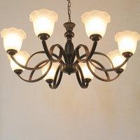 HGHomeart Jane European Chandeliers Living Room Iron Chandelier Led Bedroom Lamp Restaurant Chandelier Retro Ceiling Light