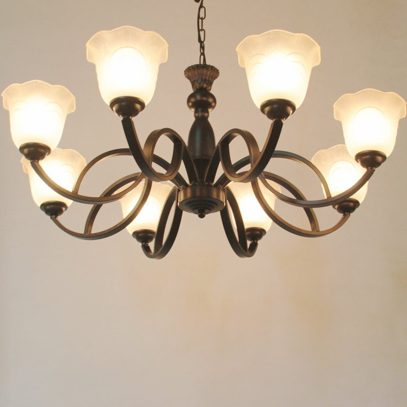 Jane European chandeliers living room iron chandelier led bedroom lamp Restaurant chandelier retro ceiling light 220v european style retro glass chandelier north village industrial study the living room bedroom living rough bar lamp loft