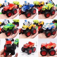 6pcs Set Kids Toys Vehicle Pull Back Car Russia Miracle Cars Blaze Transformation Toys With Original