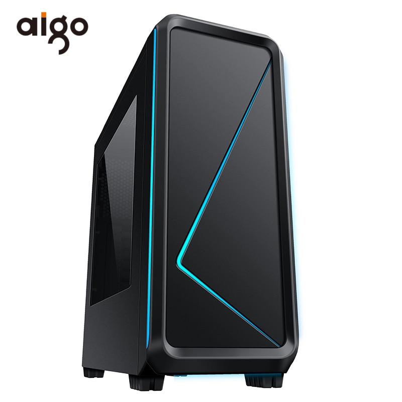 Aigo Desktop Computer Case Pc Chassis Atx Micro Atx Gaming Home Office Computer Case USB3 0