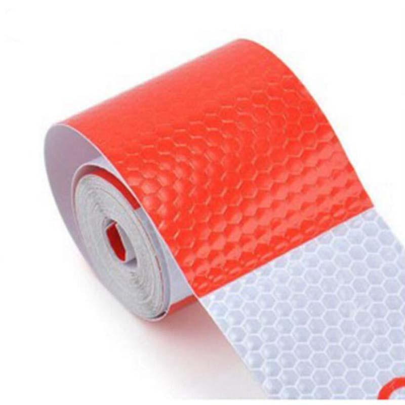 5cm x 3m Safety Reflective Warning Conspicuity Tape Film Sticker Red And White Reflective Tape Sheeting Styling Reflective Strip 5sheets pack 10cm x 5cm holographic adhesive film fly tying laser rainbow materials sticker film flash tape for fly lure fishing