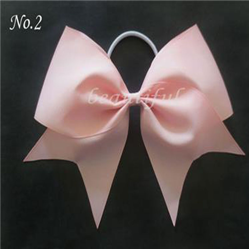 12 pcs Jumbo Hair Bows Colorful Boutique Hair 7 Cheer Leader Bow Elastic Value Pack