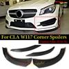 Carbon Fiber Front Bumper Lip Spoiler Splitter Cup Spoiler Flaps For Mercedes Benz CLA W117 C117