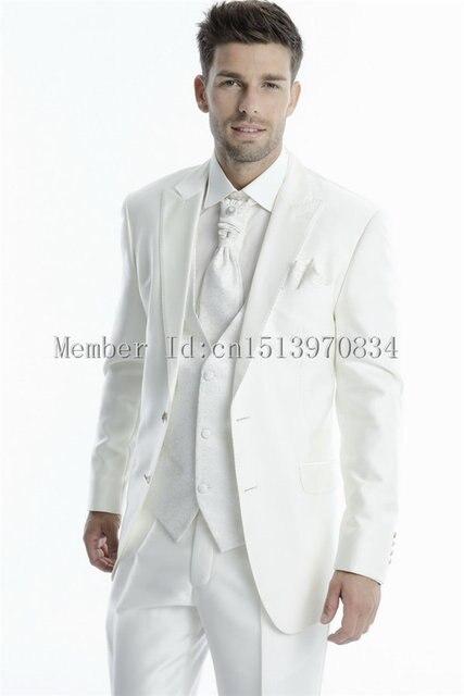 Aliexpress.com : Buy 2015 New Arrival Groom Tuxedos White Men's ...