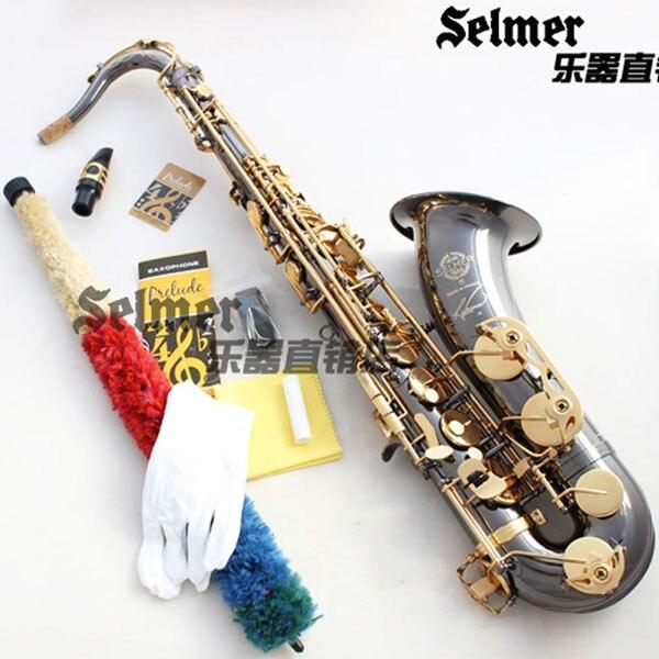 цена  Brand New Genuine France Selmer Tenor Saxophone R54 Professional bB Black Nickel Gold Sax mouthpiece With Case and Accessories  онлайн в 2017 году