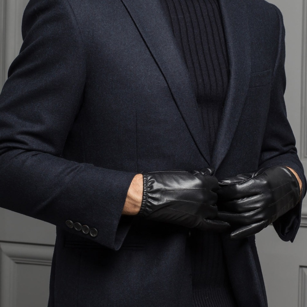 Mens leather gloves thin - Aliexpress Com Buy Simple Fashion Men S Thin Driving Gloves Genuine Lambskin Leather Gloves For Men With Elastica Cuffs From Reliable Gloves Heart