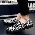LIN REY Perezosos Holgazanes de Los Hombres de la Primavera Zapatos de Lona Respirables Bajos Zapatos Plataforma Pisos Casual Slip On shoes Chaussure Corta Hombre Superior