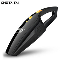 Chetaitai 2018 Wireless Vacuum Cleaner Wet And Dry Portable Car Vacuum Cleaner HEPA Filter High Power 120W Car Vacuum Cleaner