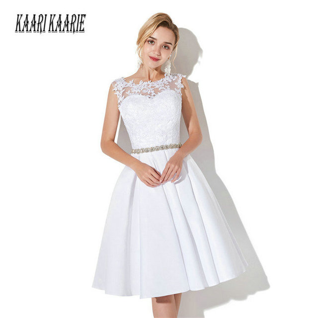 Aliexpress.com : Buy Fashion White Short Wedding Dresses 2018 Ivory ...