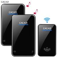 CACAZI New Wireless Doorbell Waterproof 300M Remote EU AU UK US Plug Smart LED Door Bell