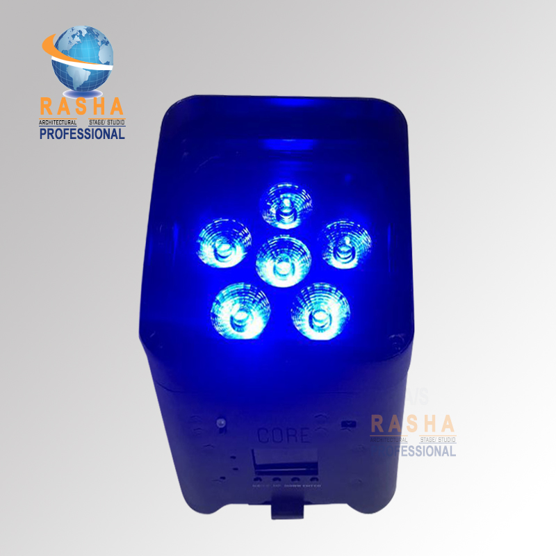 Rasha Stage Light-New Core Hex 6*18W 6in1 RGBAW UV Freedoom APP Mobile Battery Powered Wireless LED Par Can Par Projector