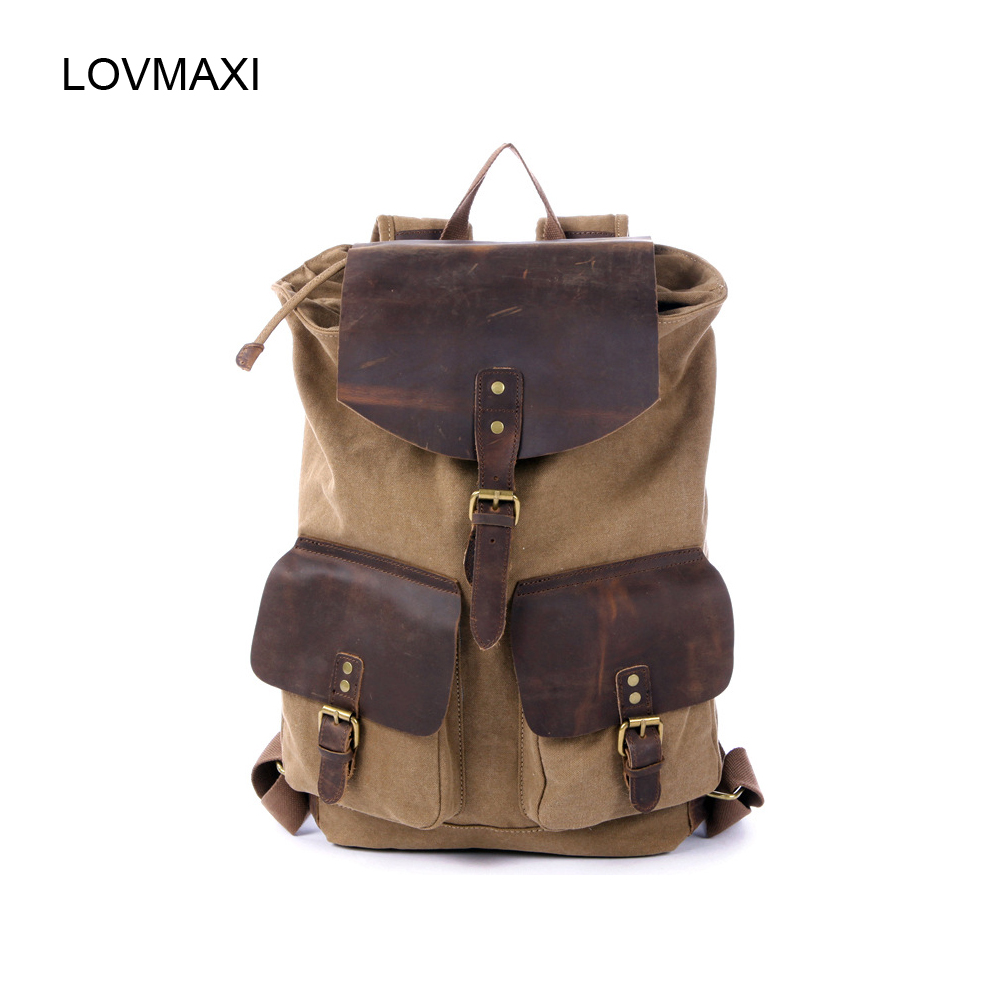 LOVMAXI Large vintage male canvas backpacks  men causal bags travel bag bigLOVMAXI Large vintage male canvas backpacks  men causal bags travel bag big