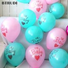 BTRUDI 10pcs/lot oh baby print Matte latex balloon 10inch shower ballons decoration birthday globos cumpleanos infantiles