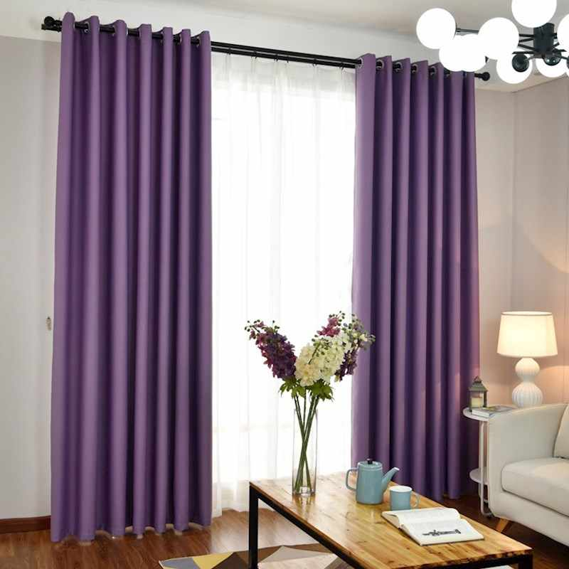 Modern Curtains for Living Room Blackout Curtains Pink/green/blue/purple Bedroom Finished Drapes for Window Treatment Tulle