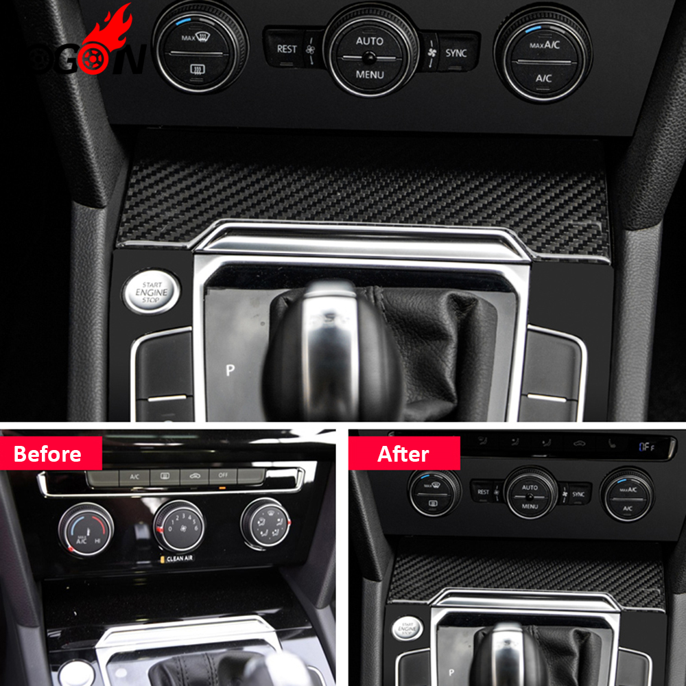 For Volkswagen VW Passat B8 2016 2017 Car Interior Console Gear Shift Water Cup Panel Cover Trim