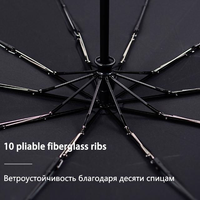 Bachon 125CM large umbrella men women rain windproof umbrella fully-automatic portable folding umbrella umbrella for female male