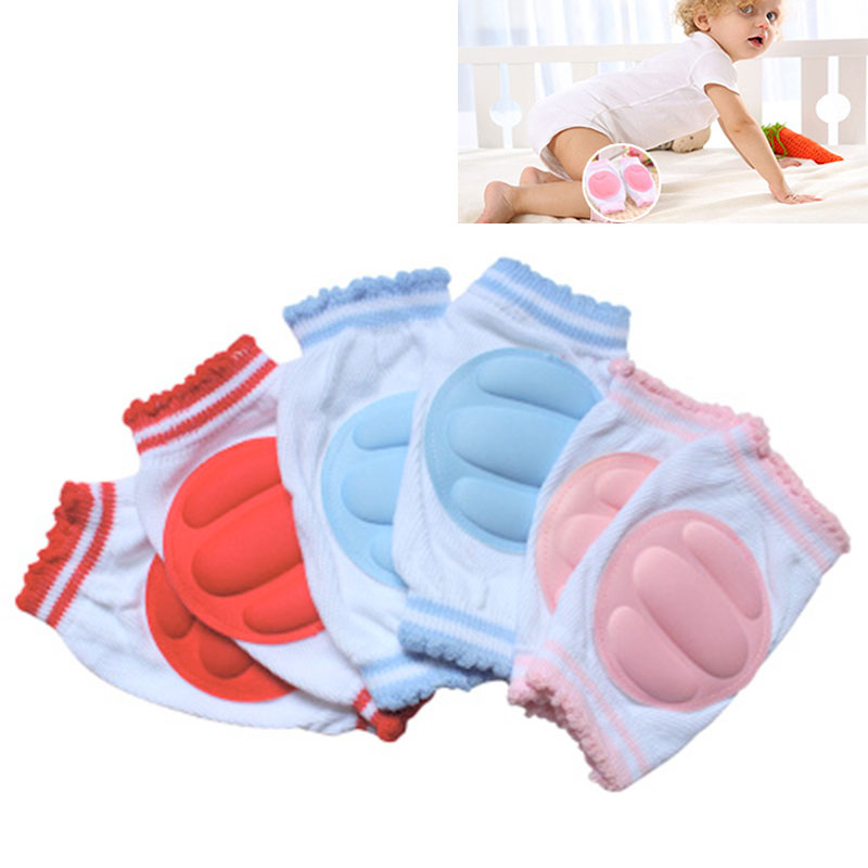 Toddler Walking Safety 1Pair Cotton Sponge Breathable Baby Kneepad Leggings Children Knee Pads Protection Crawling Pad