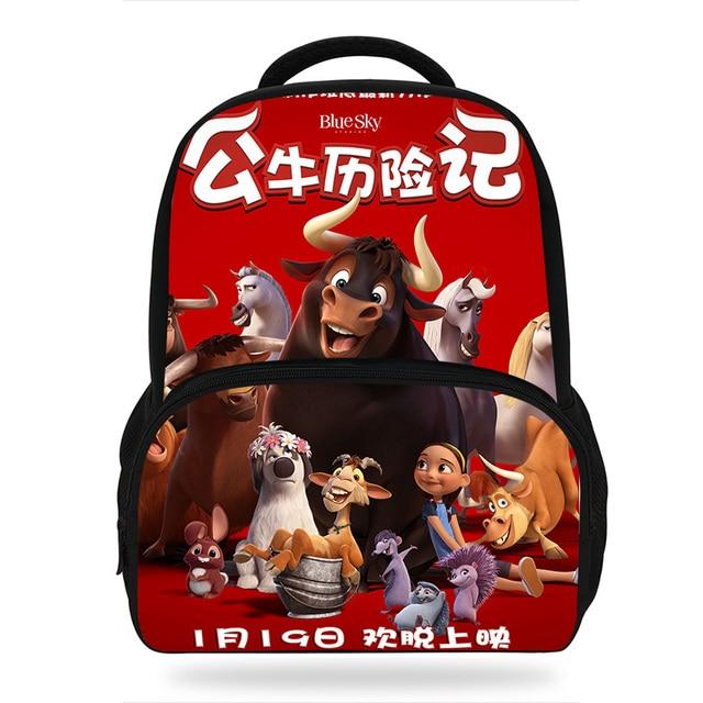 9d53a0f836 2018 Mochila Infantil Children Cartoon Movie Ferdinand Bags For Kids School  Bags Nina Lupe Printing