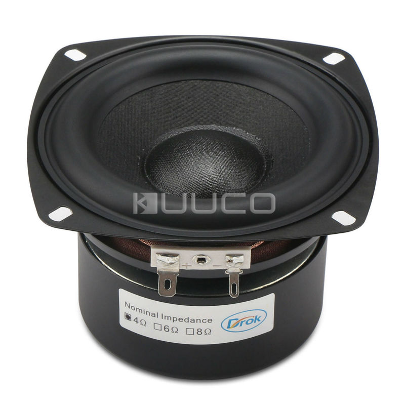 40W Woofer Speaker Antimagnetic Loudspeaker 4-inch 4 ohms Hi-Fi Subwoofer Speaker Bass Speaker for DIY speakers 1pcs denmark vifa 3 5 inch woofer speaker weave pots speaker magnet