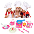 14 pcs/set Pink Kitchen Food Cooking Role Play Pretend Toy Baby Child Plastic Kitchen Toys Classic Play Kitchen Toy Gift FCI#